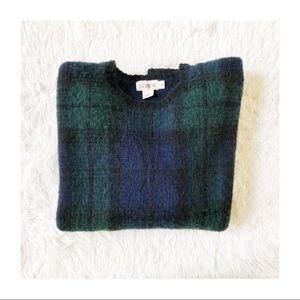 J. Crew Men's Plaid Tartan Crew Neck Sweater Med